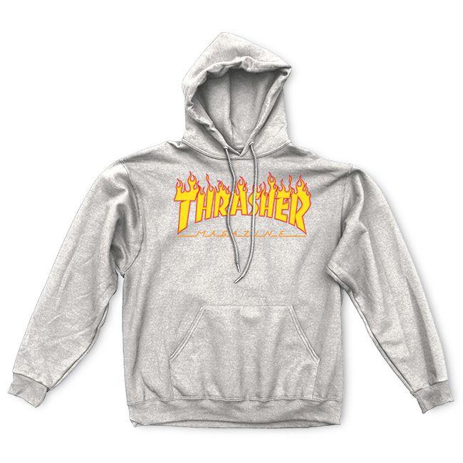 Thrasher |Flame Logo Hood (Gray)