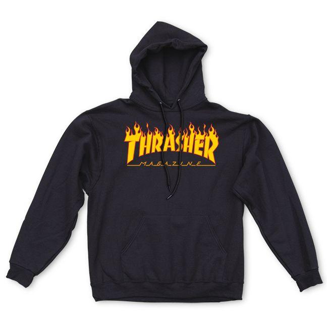 Thrasher | Flame Logo Hood (Black)