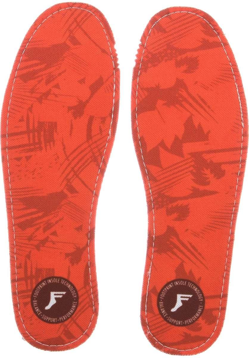 Footprint Insoles | FP Kingfoam Flat (Red Camo)