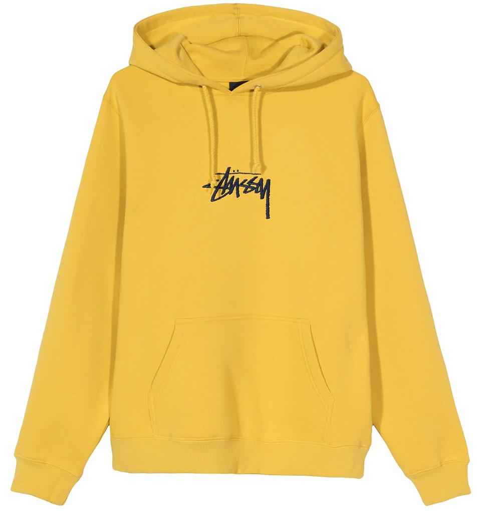Stüssy   Stock Logo Applique Hood (Yellow)
