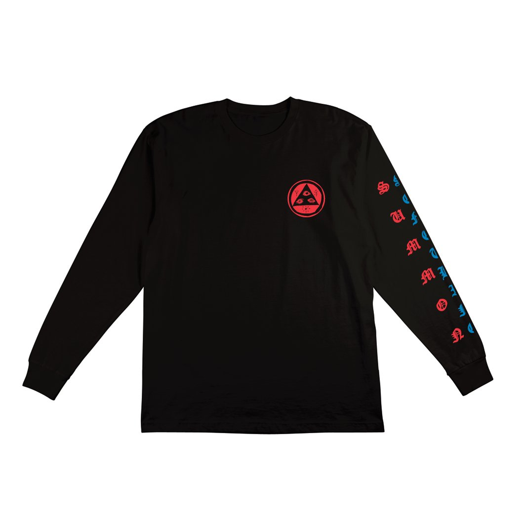 Welcome | Beckon Long Sleeve Tee (Black/Blue/Red)