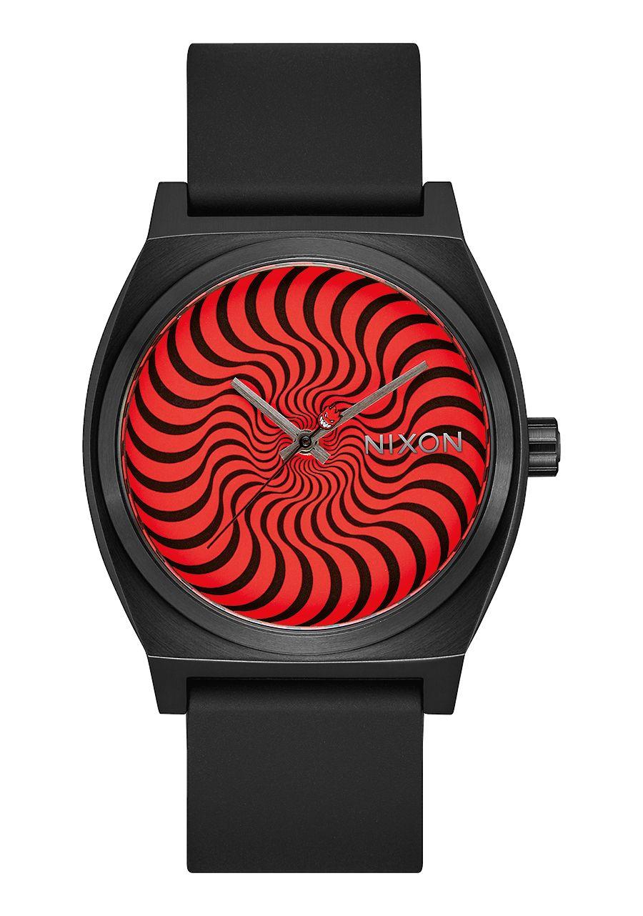 Nixon x Spitfire | Time Teller 37 mm (Black Swirl)