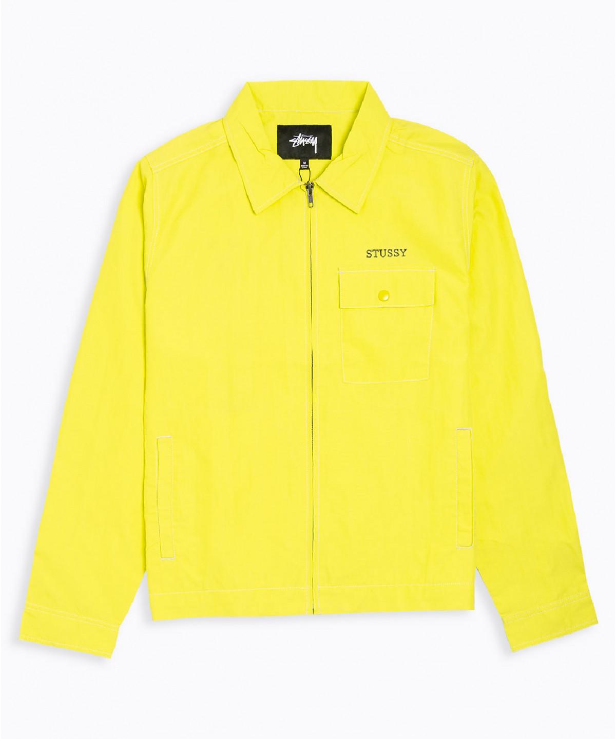 Stüssy | Nylon Zip Jacket (Yellow)