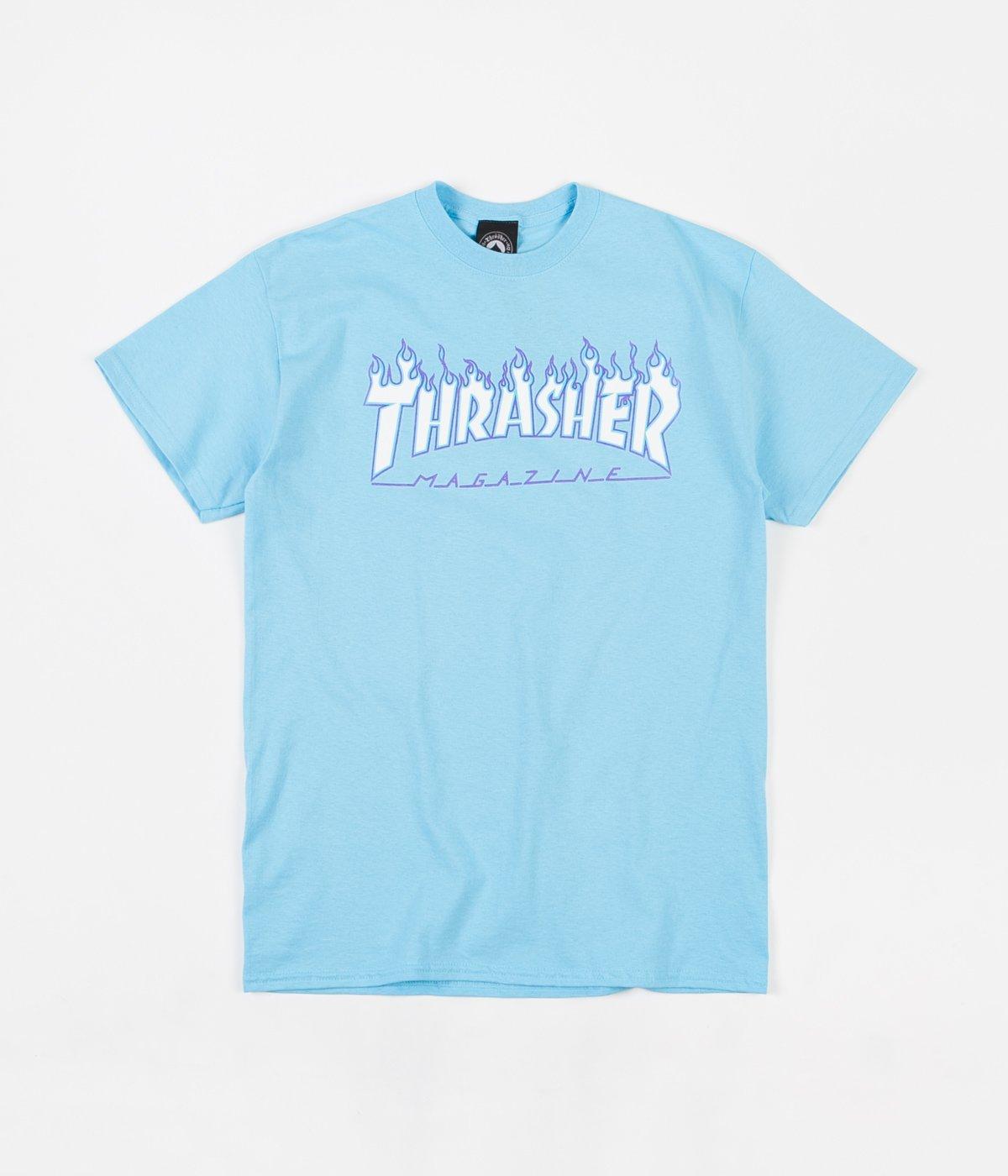 Thrasher | Flame Logo T-Shirt (Sky Blue)