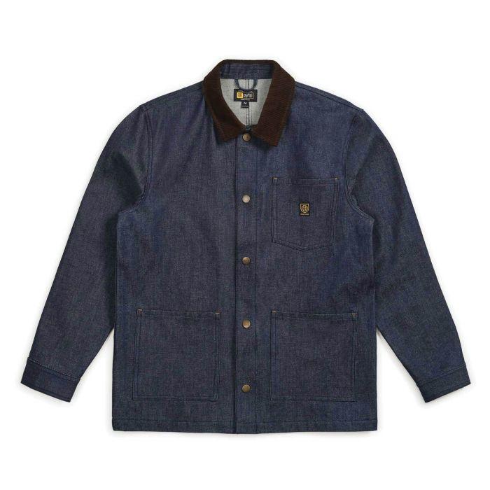 Brixtron   Yard Denim Jacket (Raw Indigo)