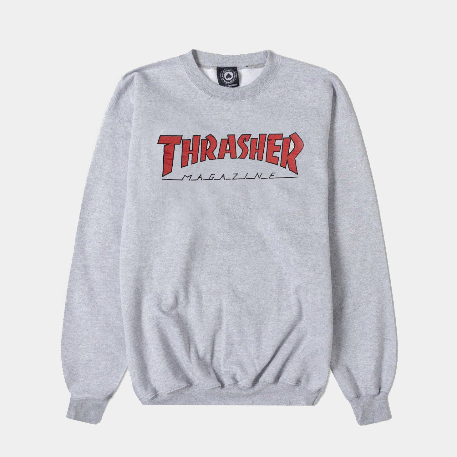 Thrasher | Outlined Crewneck (Ash Grey)