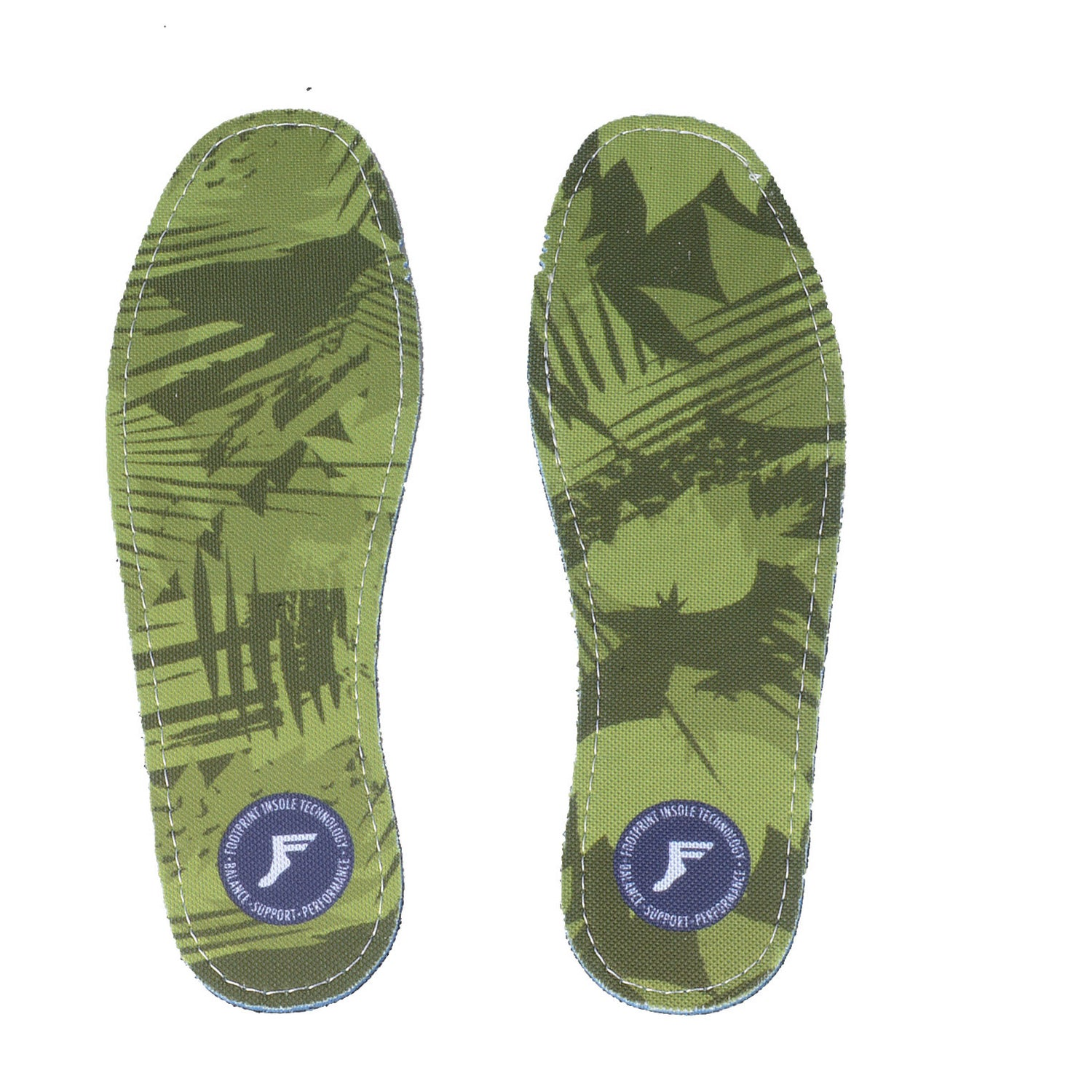 Footprint Insoles | FP Flat Insole 3mm (Camo Green)