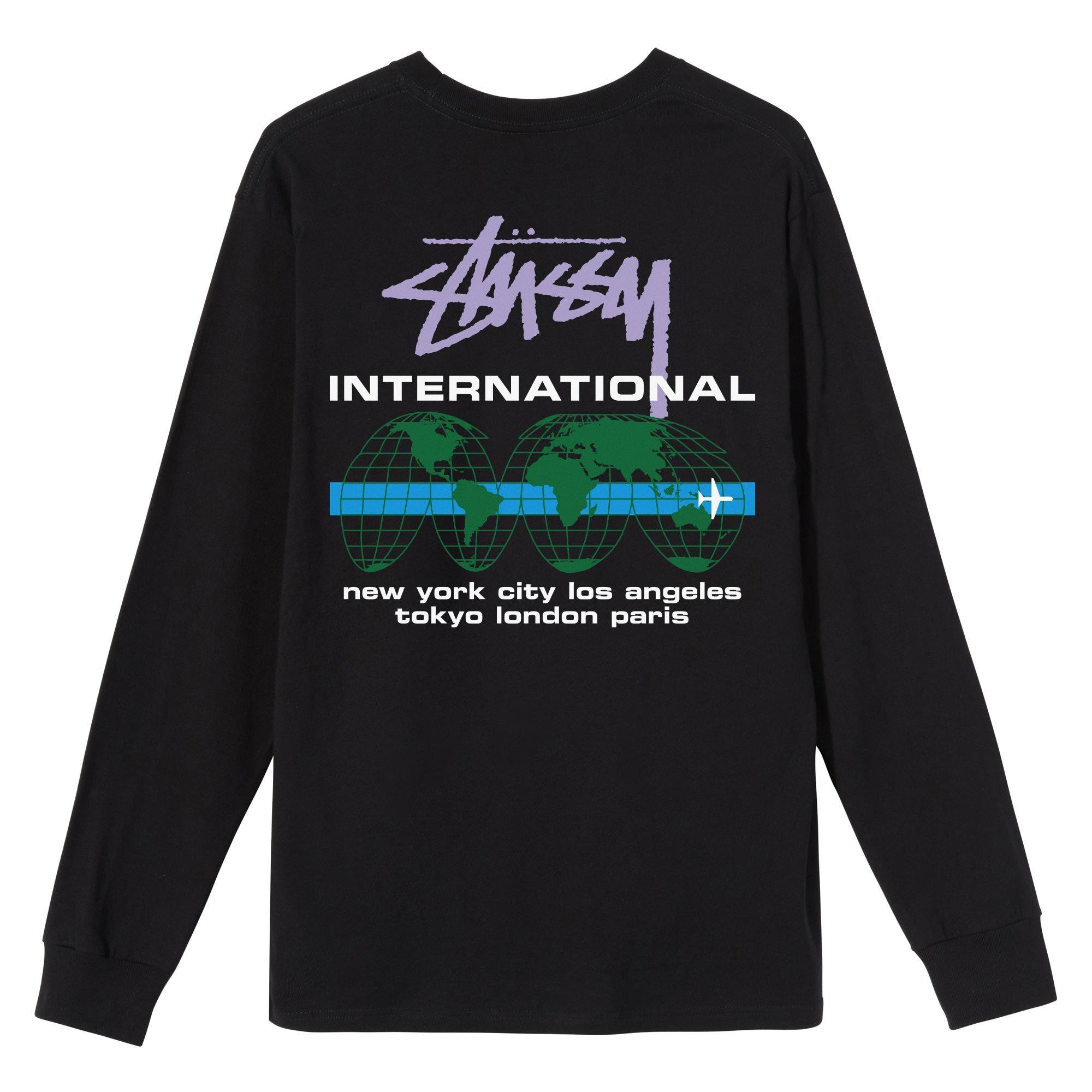 Stüssy   International LS Tee (Black)