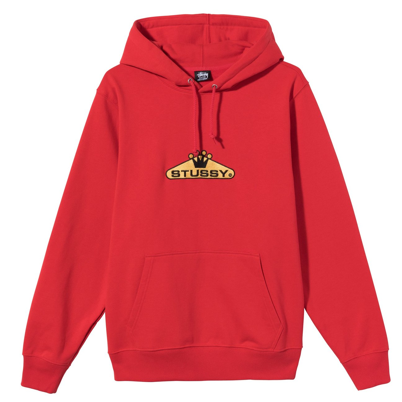 STÜSSY   Crowned Embroidered Hoodie (Red)