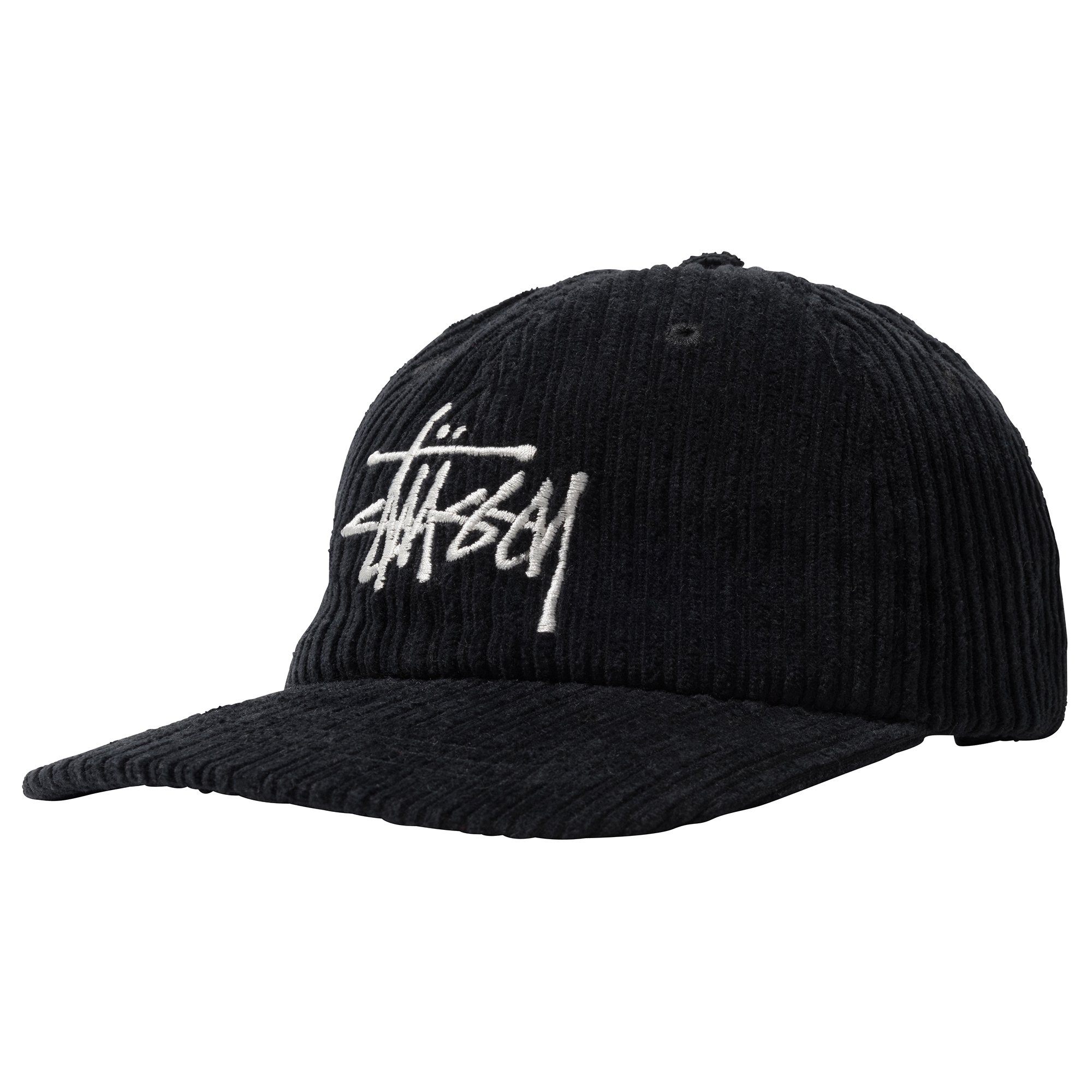 Stüssy | Corduroy Big Logo Low Pro Cap (Black)