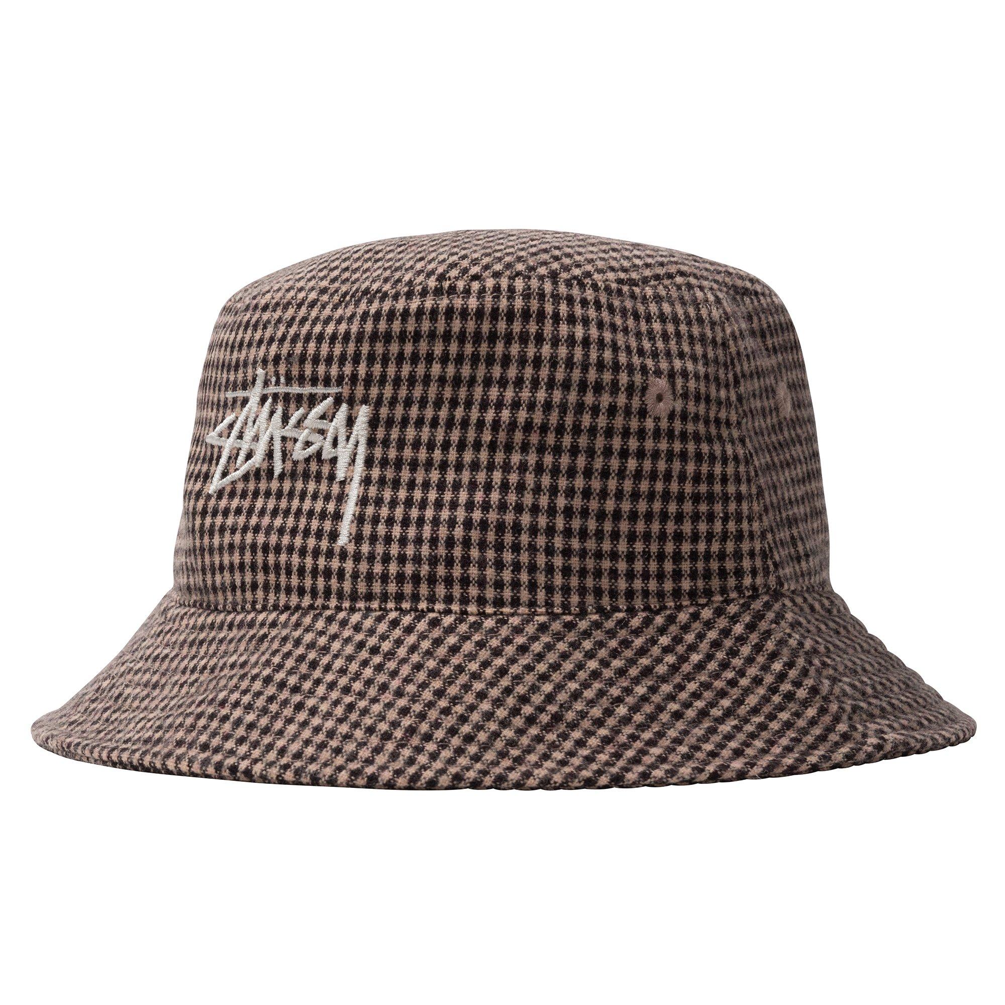 Stüssy | Wool Check Big Stock Bucket (Brown)