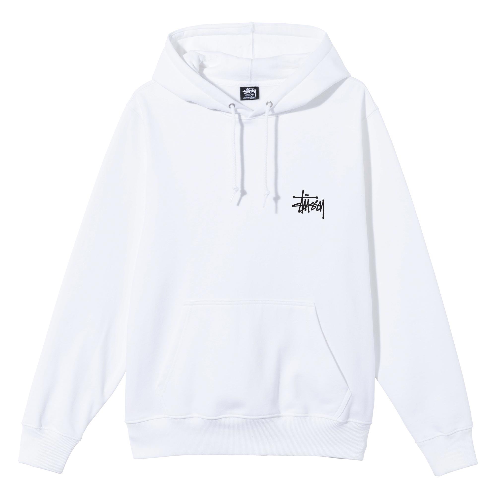 STÜSSY | Basic Stussy Logo Hoodie (White)